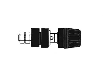 Insulated Pole Terminal With Claw Edge, Black, 4mm - Pki10a