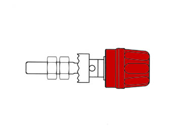 Pole Terminal With Claw Edge, Red, 4mm - Pk10a