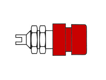 Insulated Socket, Red, 4mm - Bil20