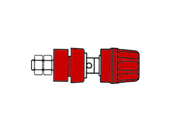 Insulated Pole Terminal With Claw Edge, Red, 4mm - Pki10a