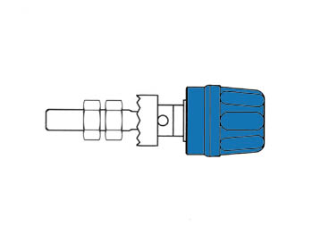 Pole Terminal With Claw Edge, Blue, 4mm - Pk10a