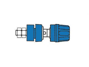 Insulated Pole Terminal With Claw Edge, Blue, 4mm - Pki10a
