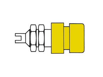 Insulated Socket, Yellow, 4mm - Bil20