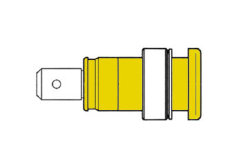 Built-in Safety Socket 4mm, Yellow Iec1010 - Seb2620f6,3