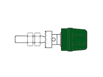 Pole Terminal With Claw Edge, Green, 4mm - Pk10a