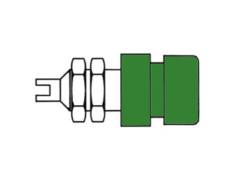 Insulated Socket, Green, 4mm - Bil20
