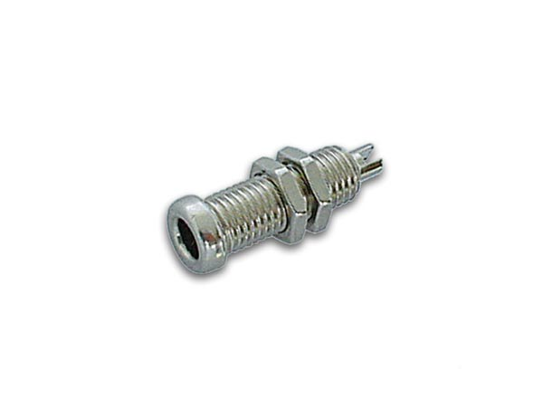 BRIGHT METAL 4mm SOCKET / NICKEL-PLATED (BU 10A)