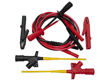 Test Equipment Set For Safety Applications 4mm - Iec1010 (2 X Clamp, 2 X Test Probe, 2 X Crocodile C