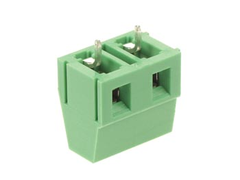 PROFESSIONAL SCREW TERMINAL, 2-POLE, GREEN, 7.5mm PITCH