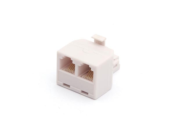 6P4C DUPLEX COUPLER - MALE TO 2 x FEMALE
