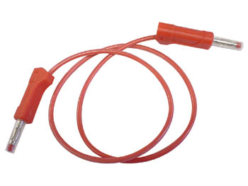 CABLE WITH BANANA PLUGS / RED 50cm