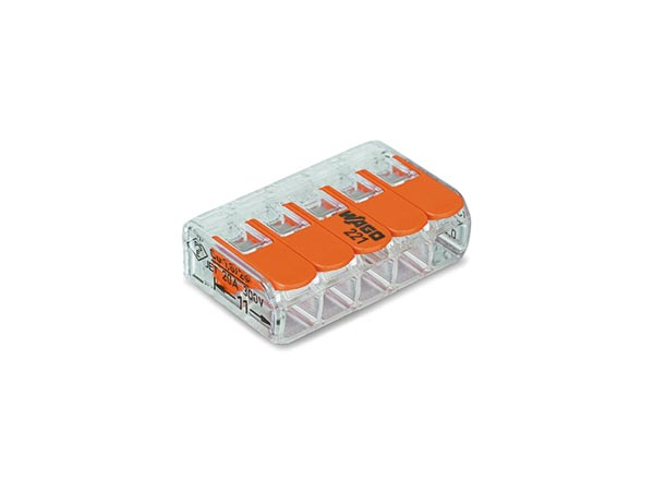COMPACT SPLICING CONNECTOR 5 x 0.2 - 4 mm² FOR ALL WIRE TYPES