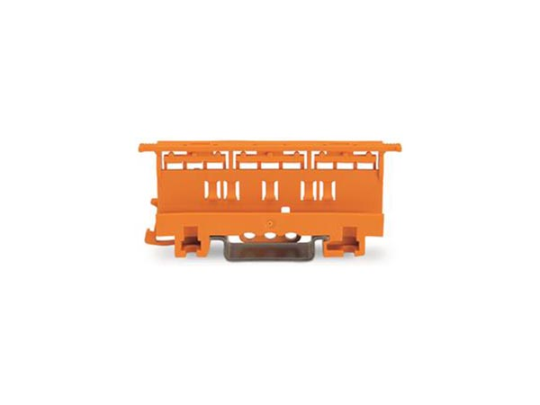 MOUNTING CARRIER - 221 SERIES - 4 mm² - FOR DIN-35 RAIL MOUNTING/SCREW MOUNTING - ORANGE