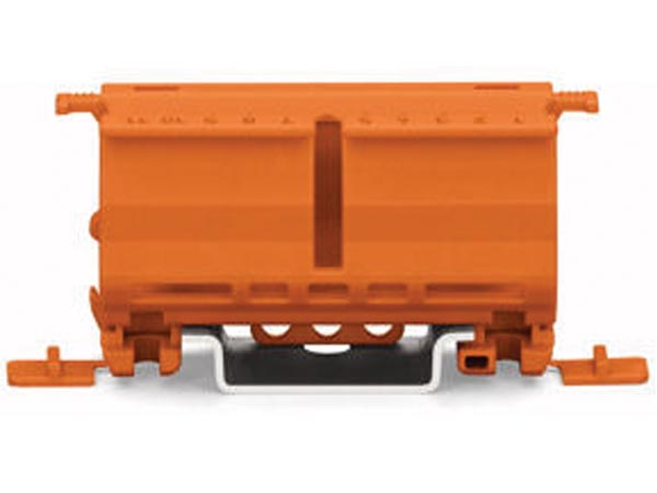 FIXING CARRIER FOR 2- TO 5-POLE COMPACT CONNECTORS, ORANGE