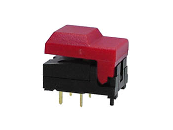 DIGITAST DIP PUSH-BUTTON SWITCH RED CAP - NO LED