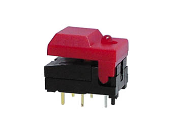 DIGITAST DIP PUSH-BUTTON SWITCH BLUE CAP - RED LED