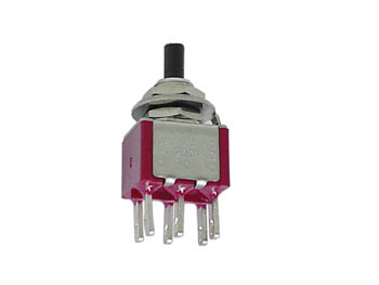 Vertical Snap-acting Momentary Push-button Switch - Dpdt On-(on)
