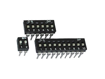 LOW-PROFILE DIP SWITCH 4 POSITIONS