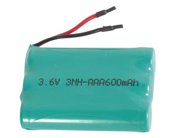 Nimh Industrial Battery Pack 3x Hr3 : 3.6v-600mah With Solder Wires