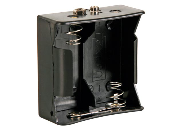 Battery Holder For 2 X D-cell (with Snap Terminals)