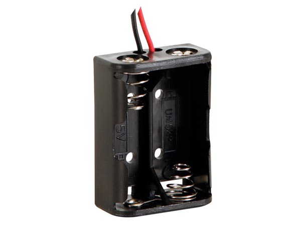 BATTERY HOLDER FOR 2 x N-CELL (WITH LEADS)