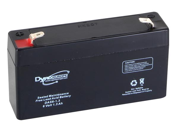 Lead Acid Battery 6v-1.3ah 98x25x56mm