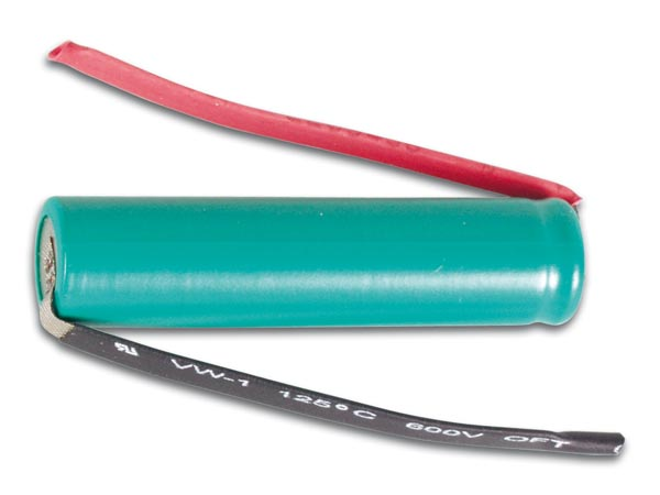 NiMH AAA-R3 RECHARGEABLE BATTERY, 1.2V-900mAh, WITH SOLDER TAGS