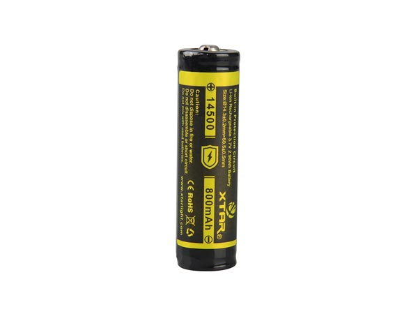 XTAR - LITHIUM-ION 3.7 V - 800 mAh - 14500 - RECHARGEABLE ROUND CELL