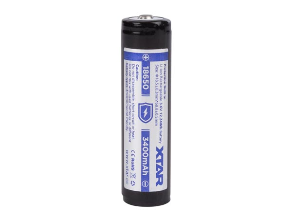 XTAR LITHIUM-ION 3.6 V - 3400 mAh - 18650 - RECHARGEABLE ROUND CELL