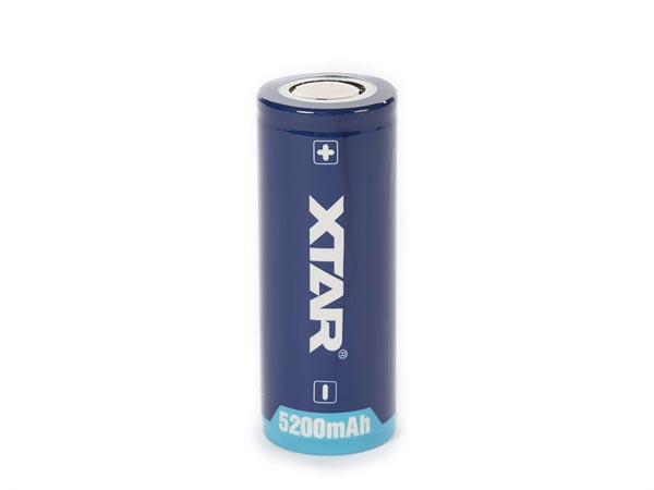 XTAR LITHIUM-ION 3.6 V - 5000  mAh  - 26650 - RECHARGEABLE ROUND CELL