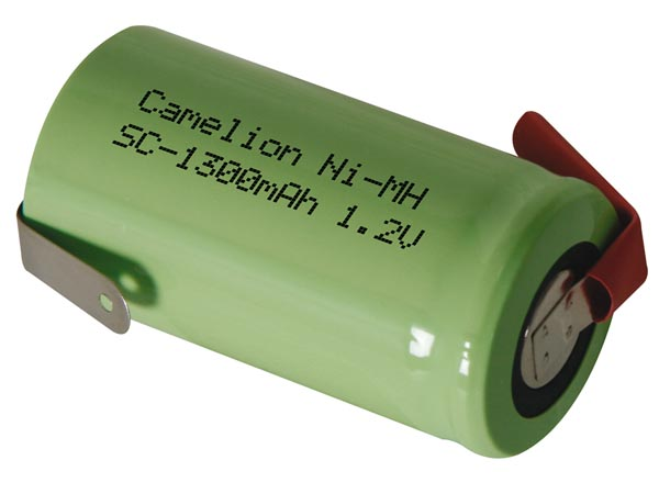 NI-MH CELL 1.2V-1.3Ah WITH SOLDER TAGS IN THE OPPOSED DIRECTION (bulk)