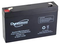 LEAD ACID BATTERY 6V-7.2Ah 150x34x100mm