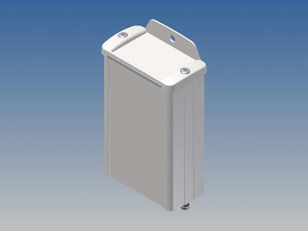ALUMINIUM HOUSING - WHITE - 100 x 59.9 x 30.9 mm - with flange