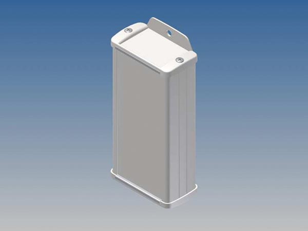 ALUMINIUM HOUSING - WHITE - 125 x 59.9 x 30.9 mm - with flange