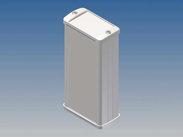 ALUMINIUM HOUSING - WHITE - 125 x 59.9 x 30.9 mm