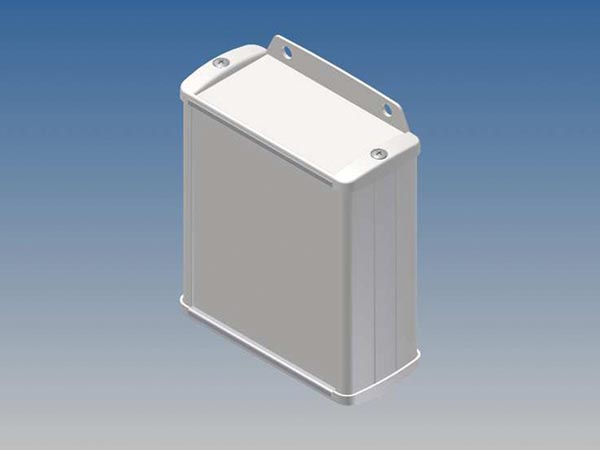 ALUMINIUM HOUSING - WHITE - 100 x 85.8 x 36.9 mm - with flange
