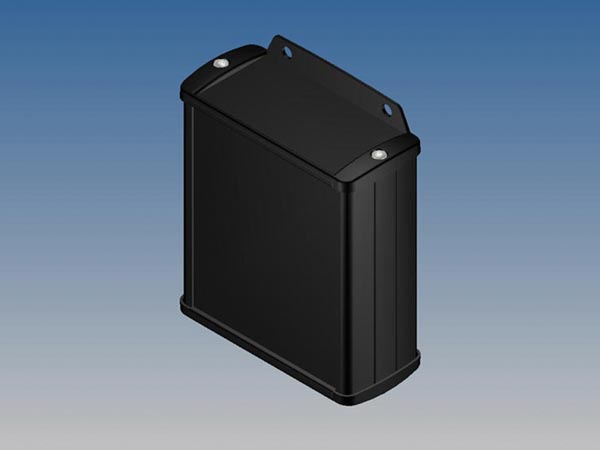 ALUMINIUM HOUSING - BLACK - 100 x 85.8 x 36.9 mm -