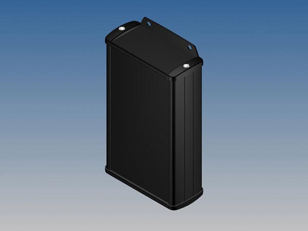 ALUMINIUM HOUSING - BLACK -145 x 85.8 x 36.9 mm - with flange