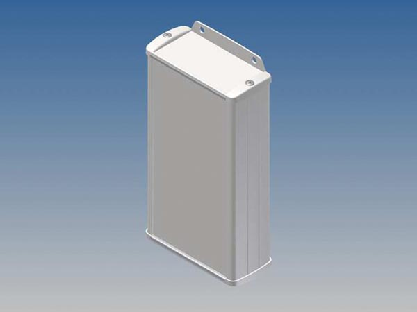 ALUMINIUM HOUSING - WHITE - 160 x 85.8 x 36.9 mm - with flange