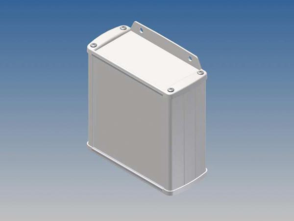 ALUMINIUM HOUSING - WHITE - 110 x 105.9 x 45.8 mm - with flange