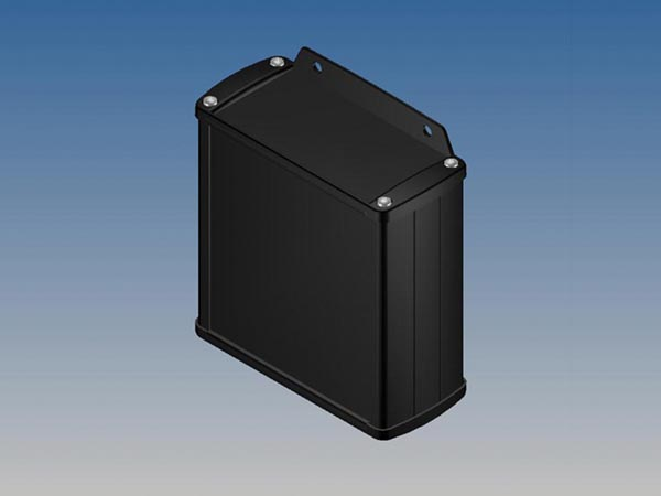 ALUMINIUM HOUSING - BLACK - 110 x 105.9 x 45.8 mm - with flange