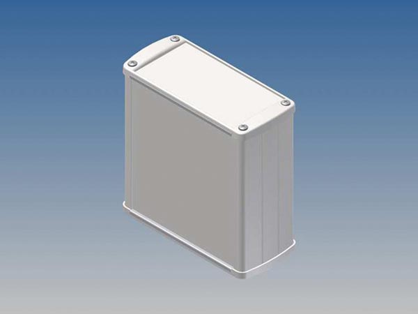 ALUMINIUM HOUSING - WHITE - 110 x 105.9 x 45.8 mm
