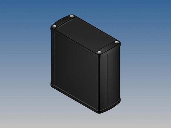 ALUMINIUM HOUSING - BLACK - 110 x 105.9 x 45.8 mm