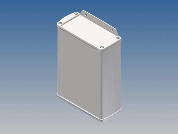ALUMINIUM HOUSING - WHITE - 145 x 105.9 x 45.8 mm - with flange