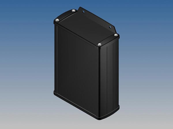 ALUMINIUM HOUSING - BLACK - 145 x 105.9 x 45.8 mm - with flange