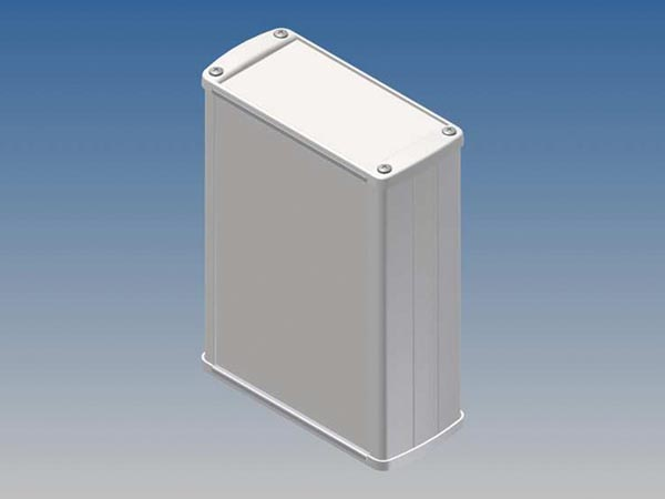 ALUMINIUM HOUSING - WHITE - 145 x 105.9 x 45.8 mm