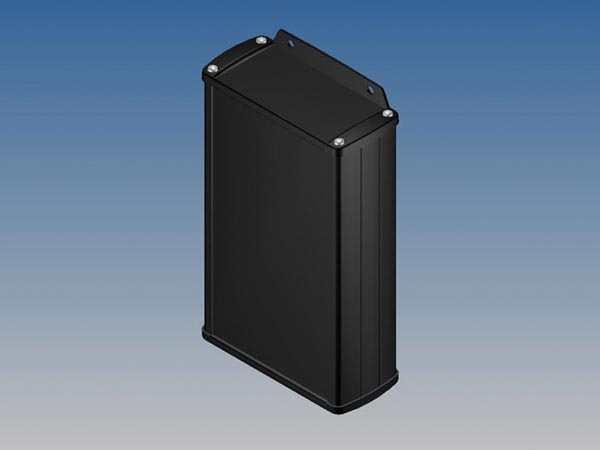 ALUMINIUM HOUSING - BLACK - 175 x 105.9 x 45.8 mm - with flange