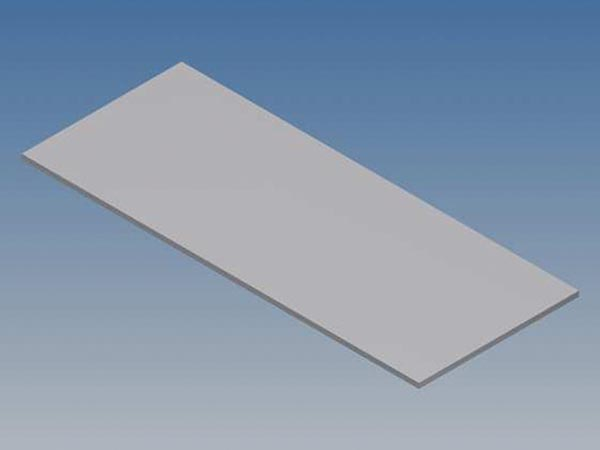 ALUMINIUM PANEL FOR 10001 / MC 11 - SILVER - 77 x 31 x 1 mm
