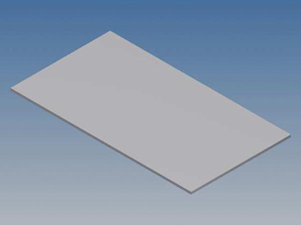 ALUMINIUM PANEL FOR 10002 / MC 12 - SILVER - 77 x 42.5 x 1 mm