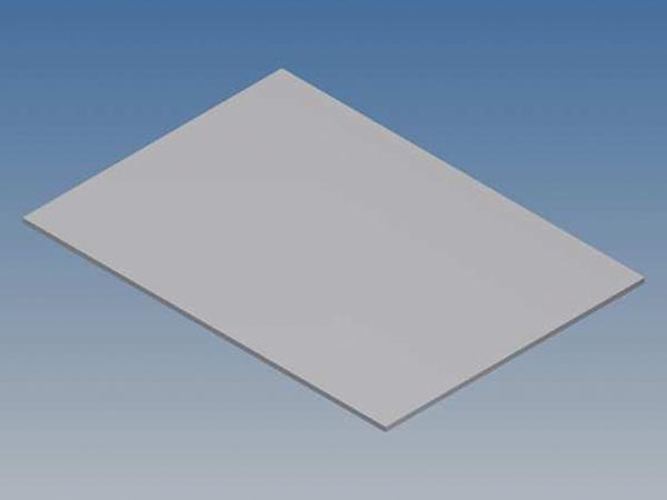 ALUMINIUM PANEL FOR PRO 96 - SILVER - 265 x 156 x 1.5 mm
